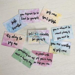 Self Care Reminder Cards